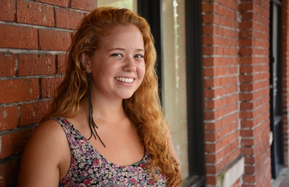 My friend Tessa poses for a portrait in downtown Gainesville.