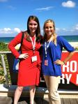 The UF SPJ chapter president, Meg Wagner, and I.
