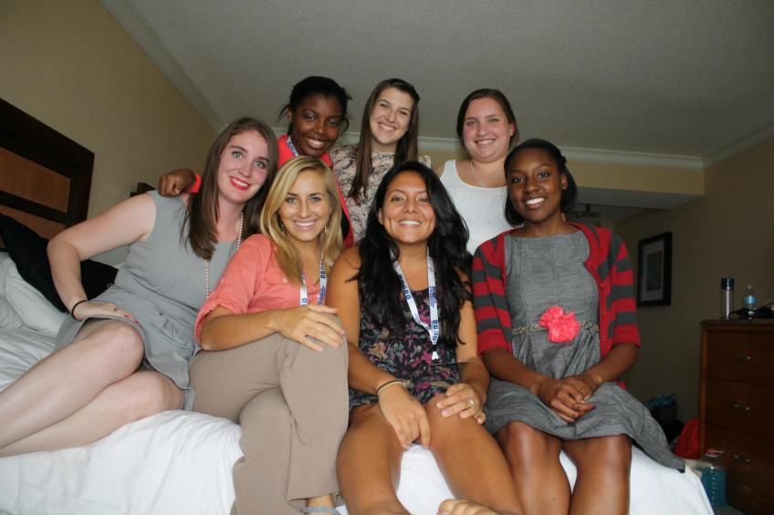 The UF SPJ crew in our hotel room after a long day of sessions. Photo from Meg Wagner.